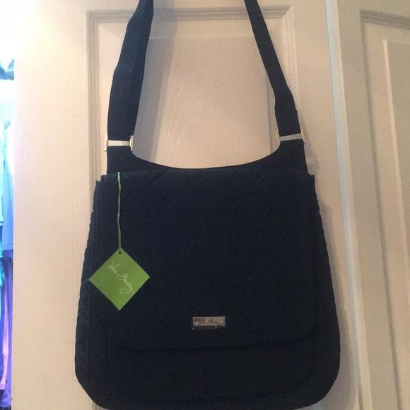 Brand new Vera Bradley Classic mail bag black 94656aa0cc3b7